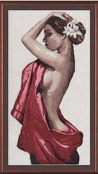 Картина Кармен,  вышивка крестом