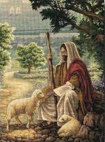 Картина Спасенный,  вышивка крестом