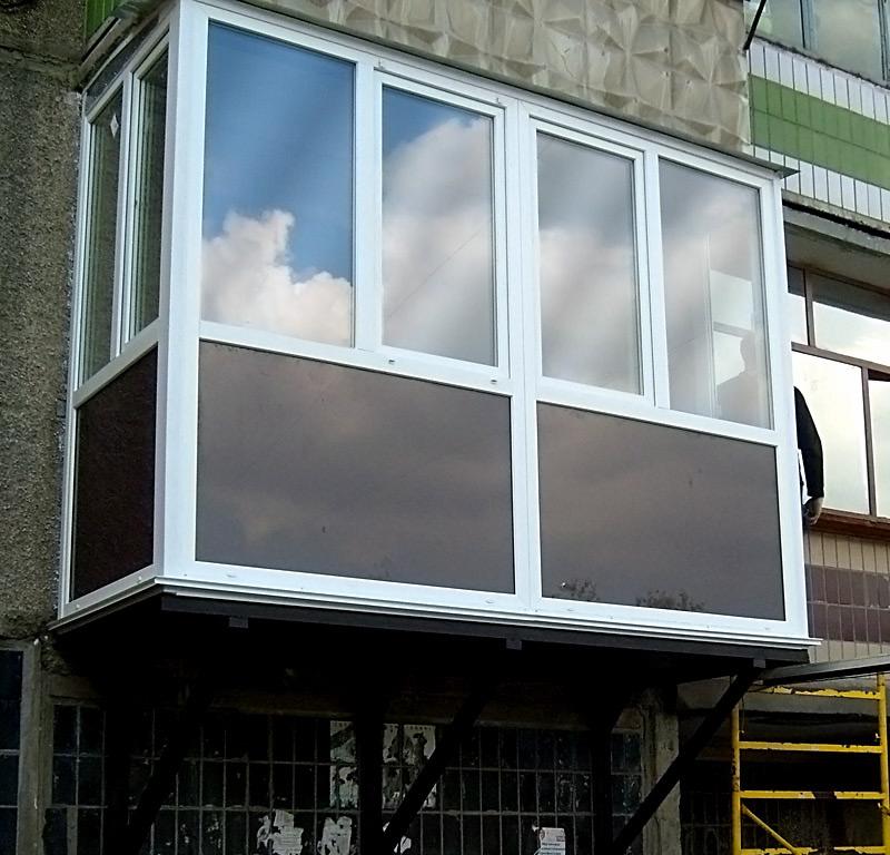 Застеклить балкон с тонировкой фото и цены.