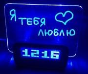 Продам часы-будильник с доской для заметок