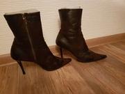 Кожаная обувь. Сапоги,  туфли Размер 39-40